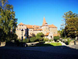 Blick vom Markt auf das Wenzelschloss-Kaiserburg